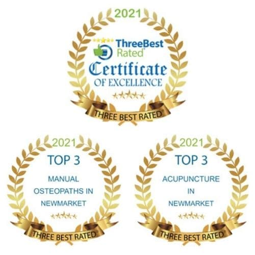 threebest awards for manual osteopathy and acupuncture